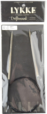 "LYKKE Driftwood 32"" Circular Knitting Needle (Size US 7 - 4.5 mm)"