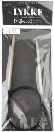 "LYKKE Driftwood 32"" Circular Knitting Needle (Size US 8 - 5 mm)"