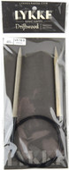 "LYKKE Driftwood 40"" Circular Knitting Needle (Size US 10.5 - 6.5 mm)"