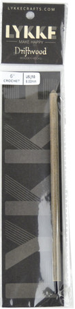 """LYKKE Driftwood 6"""" Crochet Hook (Size US J-10 - 6mm)"""