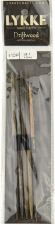 "LYKKE Driftwood 2-Pack 6"" Double Pointed Knitting Needle (Size US 7 - 4.5 mm)"