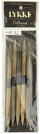 "LYKKE Driftwood 2-Pack 6"" Double Pointed Knitting Needle (Size US 11 - 8 mm)"