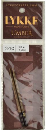 "LYKKE Umber 2-Pack 3.5"" Interchangeable Circular Knitting Needles (Size US 4 - 3.5 mm)"