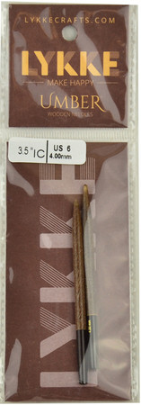 "LYKKE Umber 2-Pack 3.5"" Interchangeable Circular Knitting Needles (Size US 6 - 4 mm)"