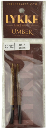 "LYKKE Umber 2-Pack 3.5"" Interchangeable Circular Knitting Needles (Size US 7 - 4.5 mm)"