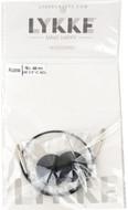 """LYKKE 16""""/40cm Black Cord For 3.5"""" Interchangeable Knitting Needle"""