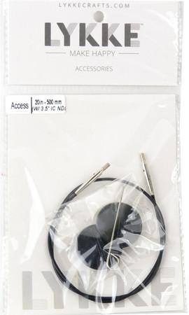 """LYKKE 20""""/50cm Black Cord For 3.5"""" Interchangeable Knitting Needle"""