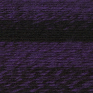 Lion Brand Black/Purple Scarfie Yarn (5 - Bulky)
