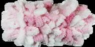 Bernat White & Pink Alize Blanket-EZ Yarn (7 - Jumbo)