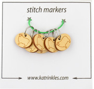 Katrinkles 6-Pack Sheep Ring Stitch Markers