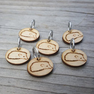 Katrinkles 6-Pack Hedgehog Ring Stitch Markers