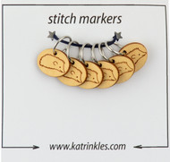 Katrinkles 6-Pack Hedgehog Ring Stitch Markers