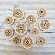 "Katrinkles Mosaic Button 1"" (Each)"