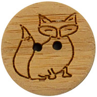 "Katrinkles Fox Button 3/4"" (Each)"