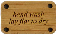 Katrinkles Hand Wash, Lay Flat to Dry Bamboo Washing Instruction Tag (Each)