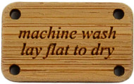 Katrinkles Machine Wash, Lay Flat to Dry Bamboo Washing Instruction Tag (Each)