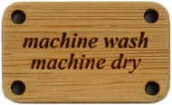 Katrinkles Machine Wash, Machine Dry Bamboo Washing Instruction Tag (Each)