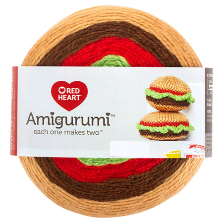 Red Heart Hamburger Amigurumi Yarn (1 - Super Fine)