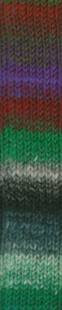 Noro #377 Red, Purple, Green, Black Kureyon Yarn (4 - Medium)