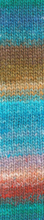 Noro #459 Aqua, Brown, Red Silk Garden Yarn (4 - Medium)