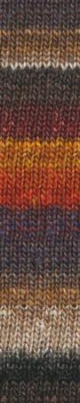 Noro #349 Burnt Orange, Wine, Greys, Taupe Silk Garden Sock Yarn (1 - Super Fine)