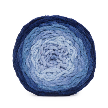 Bernat Navy Ombre Blanket Ombre Yarn (6 - Super Bulky)