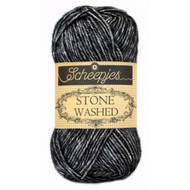 Scheepjes Black Onyx Stone Washed Yarn (2 - Fine)