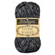 Scheepjes Black Onyx Stone Washed Yarn (2 - Fine)