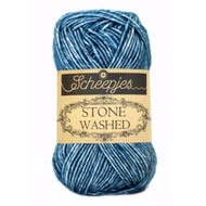 Scheepjes Blue Apatite Stone Washed Yarn (2 - Fine)