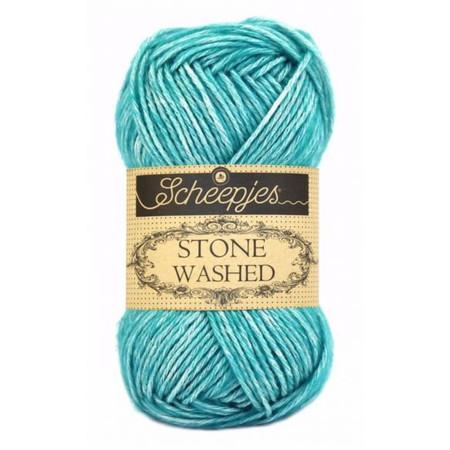 Scheepjes Green Agate Stone Washed Yarn (2 - Fine)