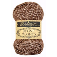 Scheepjes Brown Agate Stone Washed Yarn (2 - Fine)