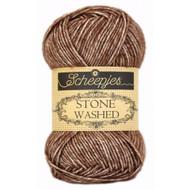 Scheepjes Brown Agate Stone Washed Yarn (2 - Fine)