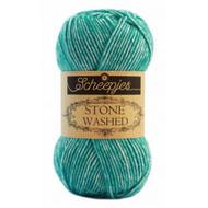 Scheepjes Turquoise Stone Washed Yarn (2 - Fine)