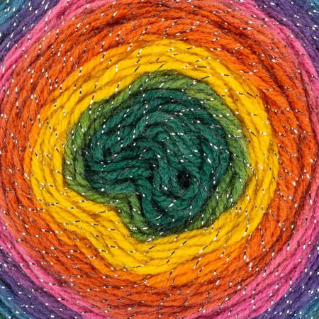 Red Heart Kaleidoscope Roll With It Sparkle Yarn (4 - Medium)