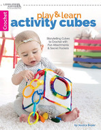 Leisure Arts Play & Learn Activity Cubes - Storytelling Cubes to Crochet with Fun Attachments & Secret Pockets