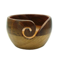 Estelle Acacia & Mango Wood Yarn Bowl
