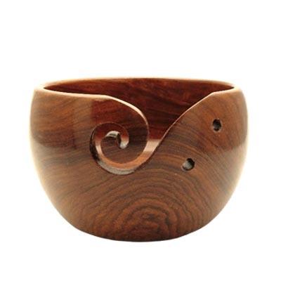 Estelle Mango Wood Yarn Bowl