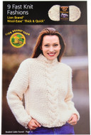 Lion Brand 9 Fast Knit Fashions - Book