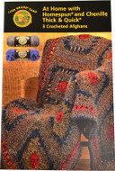 Lion Brand At Home with Homespun and Chenille Thick & Quick : 3 Crocheted Afghans - Book