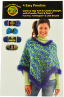 Lion Brand 4 Easy Ponchos - Book