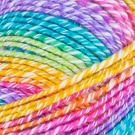 Lion Brand Rainbow Ice Cream Cotton Blend Yarn (4 - Medium)