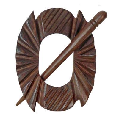 Acacia Notched Shawl Pin