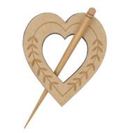 Beech Heart Shawl Pin