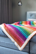 Big Larksfoot Rainbow Blanket - Downloadable Pattern