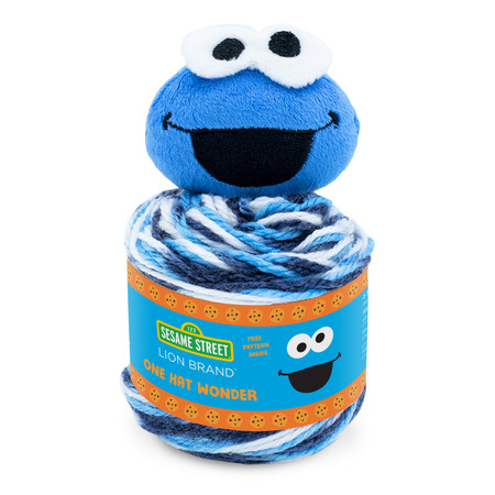 Lion Brand Cookie Monster Sesame Street One Hat Wonder Yarn (4 - Medium)
