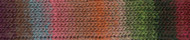 Noro #451 Red, Brown, Green Kureyon Yarn (4 - Medium)