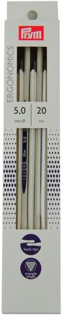 """Prym 5-Pack 8""""/20cm Ergonomics Double Pointed Knitting Needles (Size US 8 - 5 mm)"""