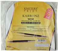 "Knitter's Pride Karbonz 16"" Special Interchangeable Circular Knitting Needles Set (7 Pairs)"