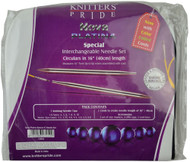 "Knitter's Pride Nova Platina 16"" Special Interchangeable Circular Knitting Needles Set (7 Pairs)"