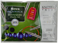"Knitter's Pride Nova Platina 24"" & 32"" Interchangeable Circular Knitting Needles Chunky Set (3 Pairs)"